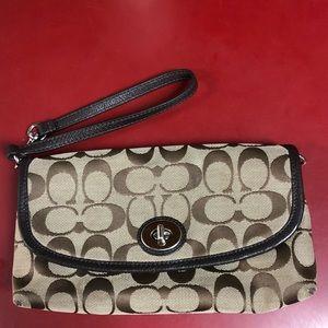Coach medium sized wallet wristlet